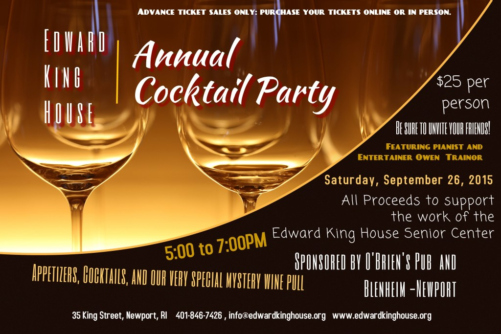 Annual Cocktail Party Poster 2015
