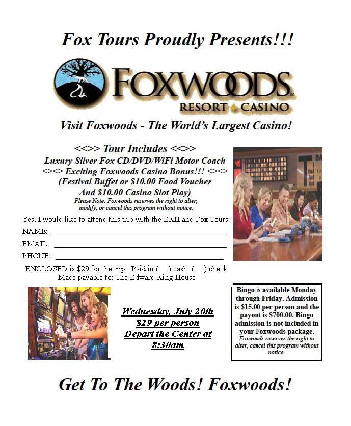 Foxwoods Registration Form EKH