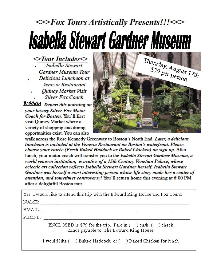 Gardner Museum Registration Form EKH
