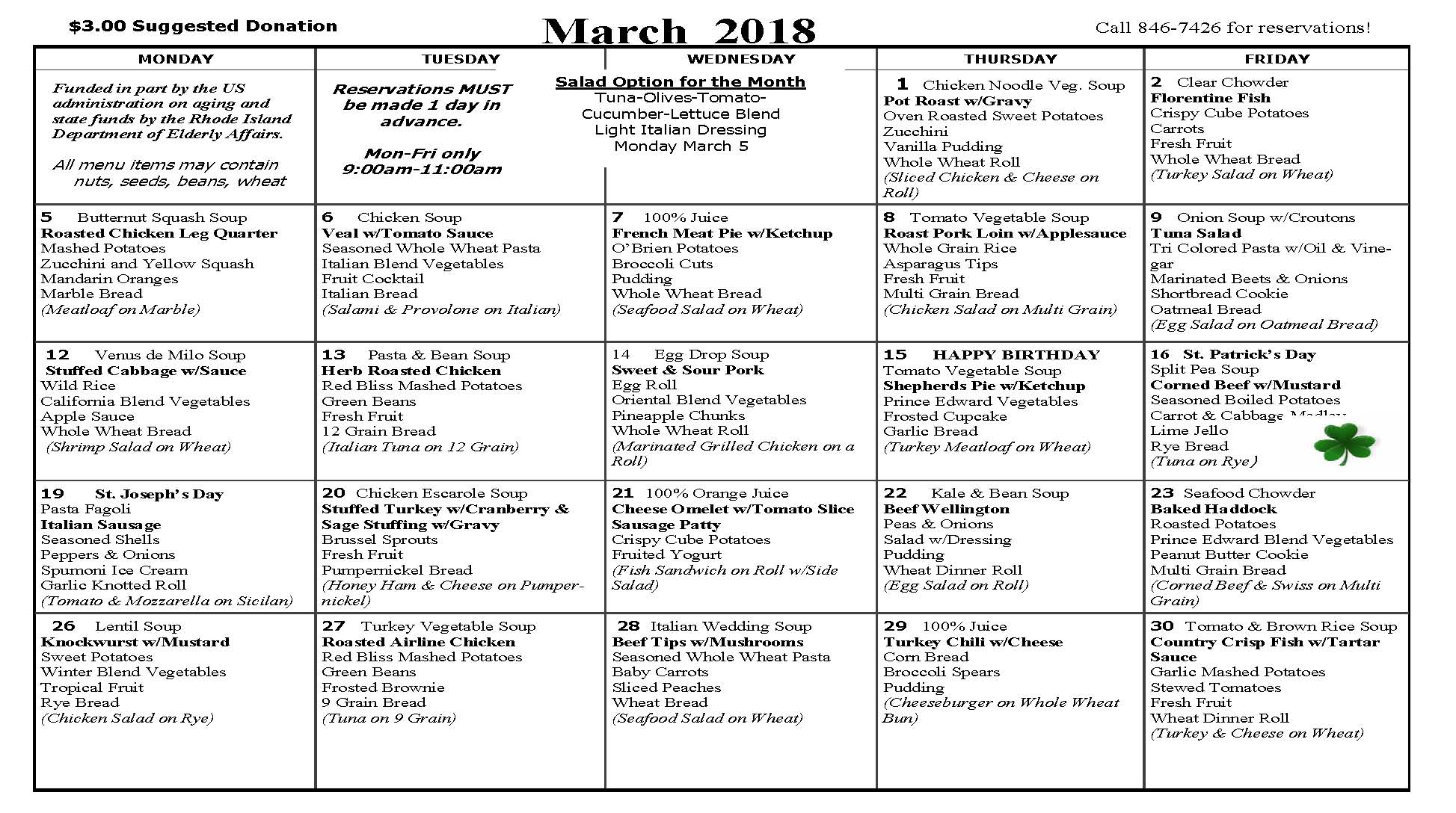 March lunch menu edward king house for King s fish house menu